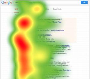 Posizionamento della pagina nella ricerca su Google